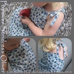 Il ne vous faudra que 2 heures de couture maximum, pour réaliser cette jolie robe d'été (taille 4 ans pour ma Belette dans une cotonnade Anglaise, bien connue, Liberty Tana Lawn &Rose Marie& Bleu) pour l'été prochain ( fichu coordonné, pour les cheveux... http://stecolargol.over-blog.com/article-robe-d-ete-popover-patron-pdf-2-au-8-ans-46056373.html