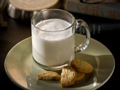 Adult milk and cookies - Love this! - 2 cups warm milk - 1 tsp Honey - 1 oz Butterscotch schnapps - Cinnamon for garnish - Favorite holiday cookies  Instructions: Add 2 cups of milk to a small pot. Simmer on medium to low heat until milk starts to warm. Add butterscotch schnapps and stir. Serve in a festive mug and sprinkle cinnamon on top. Enjoy with warm holiday cookies - hmmm