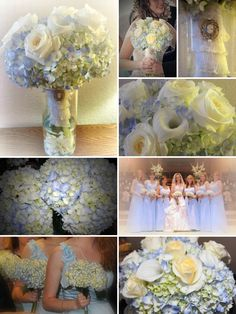 Blue hydrangea wedding flowers...can't believe it was almost a year ago!