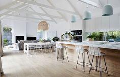 ✖️ Floor Boards. Kitchen Bench. Hanging Lights.