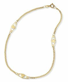 14k Yellow Gold Infinity Heart Love Chain Anklet