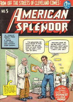 Harvey Pekar and American Splendor - Discussion Underground Comics, Comic Books Art, Comic Art, Book Art, Zap Comics, Harvey Pekar, Fritz The Cat, American Splendor, Bob Books