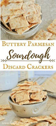 Sourdough Starter Discard Recipe, Sourdough Recipes, Bread Recipes, Real Food Recipes, Cooking Recipes, Starter Recipes, Cake Recipes, Parmesan Recipes, Kitchen Recipes