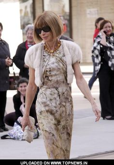Anna Wintour I want to be you. I want to wear your shoes, write with your pen, and wear those sunglasses.