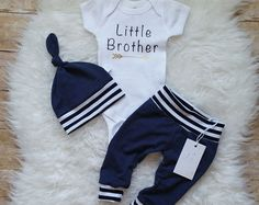 Hello World Baby Boy Outfit Take Home Outfit  Organic Newborn