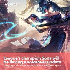 League's champion Sona will be having a voiceover update #Sona #RiotGames #LeagueOfLegends #Pinoygamer