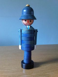 Policeman stacking toy - vintage (1950s)