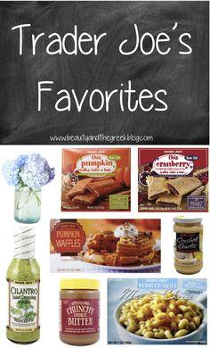 Trader Joe's Favorites...that Crunchy Cookie Butter, OMG!