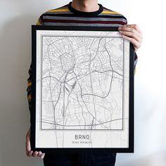 Plakát - mapa Brno / Zboží prodejce jsps | Fler.cz