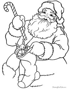 Free Printable Christmas Coloring Sheets of Santa!