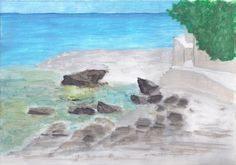 Cafe del Mar (Moraira - Spain) (acrylic on paper - 30/10/13)