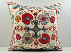 suzani pillow cases hand embroidered msp206 - Uzbek-Craft.Com