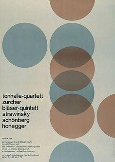 Tonhalle-Quartett poster by Josef Müller-Brockmann Graphisches Design, Swiss Design, Layout Design, Icon Design, Plane Design, Flyer Design, Poster Design, Graphic Design Posters, Graphic Design Inspiration