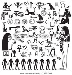 Egyptian Symbols ©: Symbols and Icons Mayan Symbols, Viking Symbols, Egyptian Symbols, Ancient Egyptian Art, Ancient Symbols, Viking Runes, Egyptian Party, American Indian Tattoos, Wiccan Tattoos