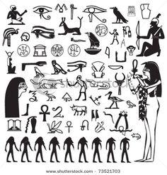 Set of Egypt symbols