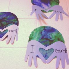 earth dy craft | Earth Day Love craft. @Jen Inumerable Sullivan #earthdaycrafts