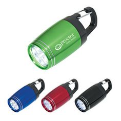 6 LED Aluminum Clip Light - This is a great promotional item for your recipient to clip on their bag and light their way!  Great for camping, hiking or just keeping in your car!