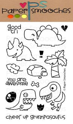 Dino stamps - PS