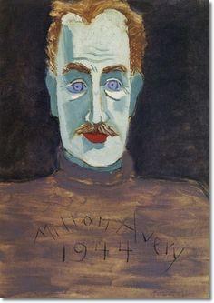milton avery self portrait by milton avery painting  www.encore-editions.com