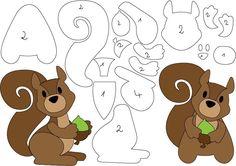 felt or foam animals Felt Animal Patterns, Stuffed Animal Patterns, Stuffed Animals, Animal Templates, Marianne Design, Toddler Gifts, Toddler Toys, Applique Patterns, Felt Toys