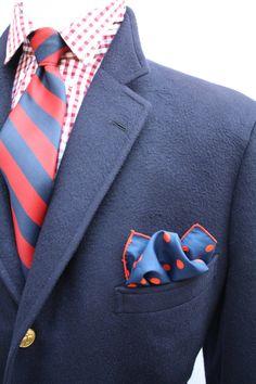 Mens Vintage Brooks Brothers Cashmere Navy Blazer by ViVifyVintage