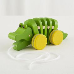 Another Christmas idea for the little burrito.  This alligator pull toy is $24.95.
