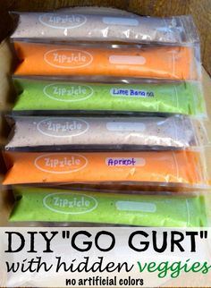 "this post contains affiliate links Last year, I posted my DIY "" Go Gurt"", and ever since I have been meaning to post a few more flavors. A little recap on how I got into making my own ""Go Gurt"". I have always been a little disappointed with the sugar content of kids yogurt, and have found that simply blending fruit with plain yogurt is just as tasty. Even if you choose to add honey or a little sugar to your DIY ""Go Gurt"", it will still be much less sugar than what you find in pre packaged…"