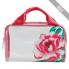 Vera Bradley Beach Cosmetic - Oxford Floral - Cosmetic Bags