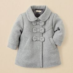 Gray bow coat