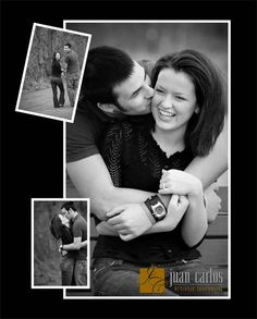 engagement pics. Cute layout for save the date