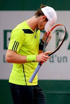 Andy Murray French Open 2014....BATTLE!...against Kohlschreiber...excellent match!