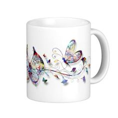 Colorful Butterflies Coffee Mugs
