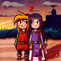 Valentine's Day Link and Hilda by Zeepla #ALBW I don't ship them, but this is cute