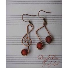 Wire musical jewelry. So pretty! Pinned for inspiration :)