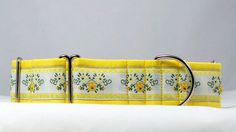 Yellow Rose of Texas Dog Collar Martingale Buckle by dogsbythebay, $19.99