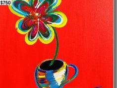 coffee and a flower by Mac Worthington