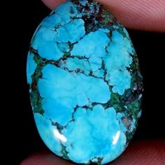16X23MM 100% NATURAL VINTAGE TIBET TURQUOISE OVAL CAB GEMSTONE 13.15CT. #Jaipurgems2016