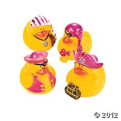 Girl pirate duckies - to float in the pool