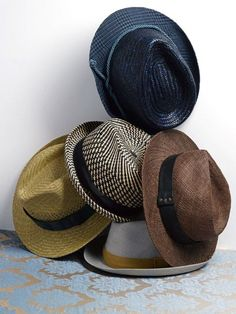 Get your summer hat game going. - File under: Hats, Accessories, Fedoras