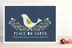 Nordic Peace Dove Holiday Non-Photo Cards by Gakemi Art+Design at minted.com