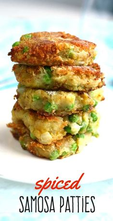 A fried potato patty with Indian spices? Yes, please! Easy to make and so delicious! #glutenfree #vegan Veggie Dishes, Veggie Recipes, Asian Recipes, Appetizer Recipes, Whole Food Recipes, Cooking Recipes, Healthy Recipes, Curry Recipes, Dinner Recipes
