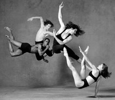 Lois Greenfield - Flipper Hope, Jack Gallagher, Daniel Ezralow, Ashley Roland per la campagna pubblicitaria di Raymond Weil Watches, 1993