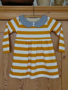 skinny tee dress- this collar would add an adorable touch to so many striped dresses that are already out there...