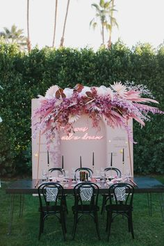 Quinceanera Decorations, Wedding Decorations, Pink Neon Sign, Pink Backdrop, Wedding Lounge, Bridal Shower Photos, Modern Love, Backdrops For Parties, Wedding Vendors