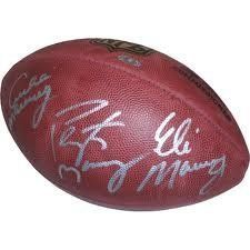 Eli Archie & Peyton Manning Hand Signed Autographed Official Superbowl Xliv Game Football with Proof of Signing by wilson. $299.99. This item is 100% authentic and signature is not a print. Each item comes with all documentation, certificate of authenticity, holograms, and proof of signing.  hand signed during the xliv superbowl between the saints and colts