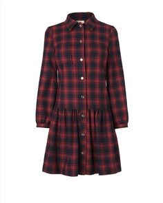 Why do the British have better clothes? I want this Jessie Check Wool Blend Dress!