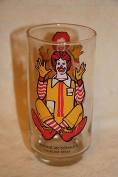 "Vintage 1977 Ronald McDonald Character Collector Glass Tumbler 6"" | eBay"