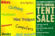 Students donated 23 TONS of items for the 5th Annual Tent Sale this weekend! Here are just a few examples of stuff that will be for sale!