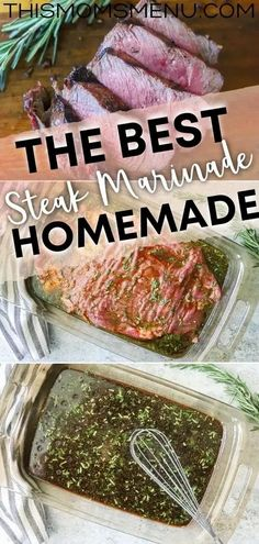 This homemade steak marinade is so easy and delicious. Take any cut of steak to the next level, including filet, sirloin, London broil, or flank steak! Fast Dinner Recipes, Fast Dinners, Healthy Dinners, Real Food Recipes, Homemade Steak Marinade, Homemade Barbecue Sauce, London Broil Marinade, Keto Sauces, Marinated Steak