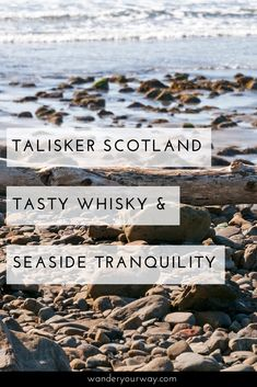 """""""Talisker Bay at low tide,"""" Andy said to me. So I timed my visit to Talisker Distillery with the tide in mind. After tasting some whisky I found my way to Talisker Bay. What a fabulous way to spend a day on the Isle of Skye! Click through to find out more."""
